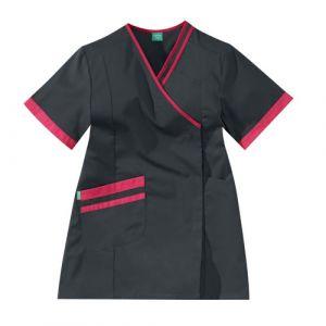 Casacca medica da donna LILEE 8TCC00PC Carbone/Fushia