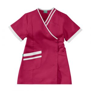 Casacca medica da donna LILEE 8TCC00PC Rosa fushia/Bianco