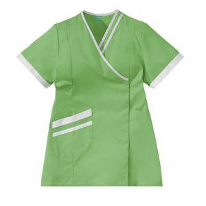Casacca medica da donna LILEE 8TCC00PC Verde mela/Bianco