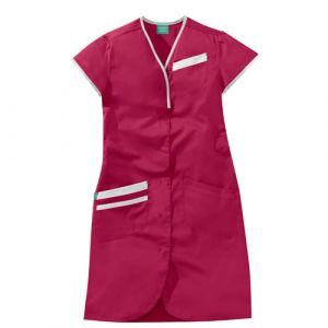 Camicia medica donna maniche corte 8PMC00PC Bianco / Rosa Fucsia