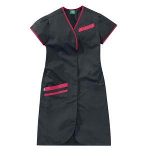 Camicia medica donna maniche corte 8PMC00PC Carbono / Rosa Fucsia