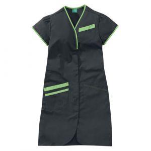 Camicia medica donna maniche corte 8PMC00PC Carbono / Verde mela