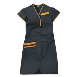 Camicia medica donna maniche corte 8PMC00PC Carbono / Melone