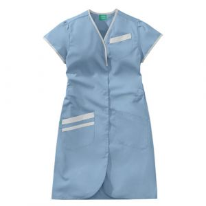 Camicia medica donna maniche corte 8PMC00PC Azzurro / Bianco