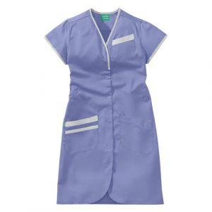 Camicia medica donna maniche corte 8PMC00PC Bianco / Viola di Parma