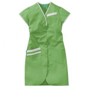 Camicia medica donna maniche corte 8PMC00PC Bianco / Verde mela