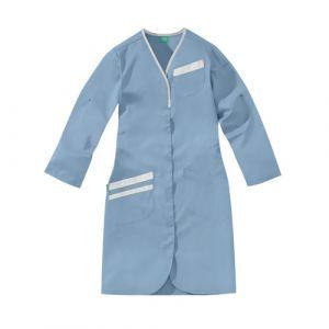 Camice medica da donna NOMIA 8MLC00PC Azzurro-cielo/Bianco