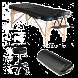 Pack Lettino da massaggio in legno Mediprem nero