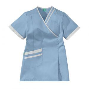 Casacca medica da donna LILEE 8TCC00PC Azzurro cielo/Bianco