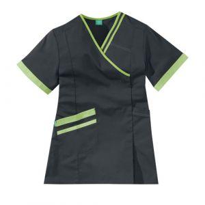 Casacca medica da donna LILEE 8TCC00PC Carbone/Verde Mela
