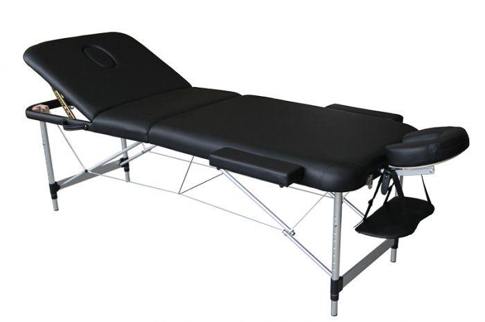 Lettino da massaggio pieghevole Mediprem Eco Pro Alu Nero